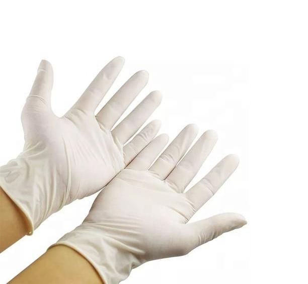 Latex gloves for medical examination