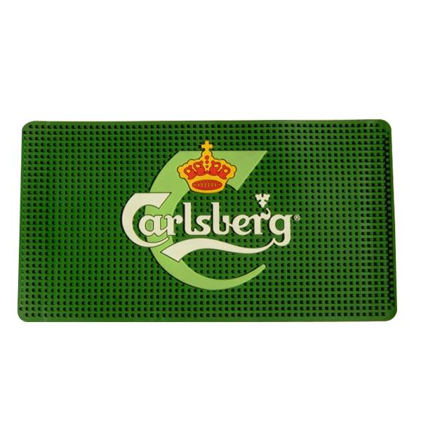 Hight Quality Logo Engrave Rubber Bar Mat
