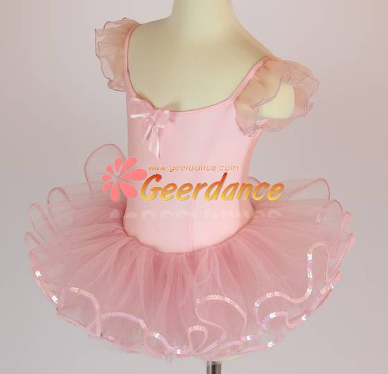 High quality! Flutter sleeves girls ballet costume 15C0012