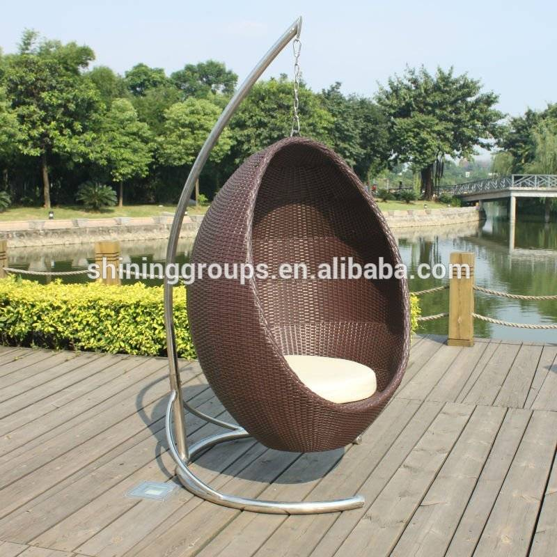 Rattan swing hanging chair for Garden furniture C057