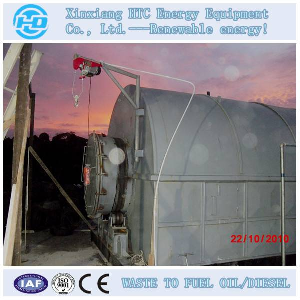 waste tyre pyrolysis production line