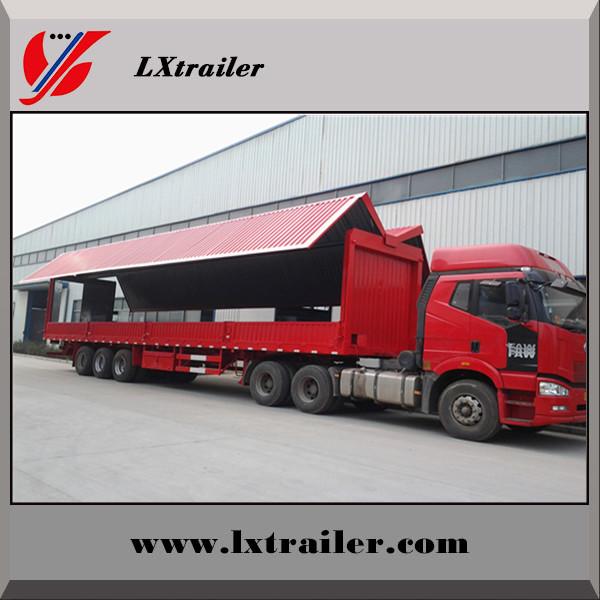 China Hydraulic Automatic Wingspan Van Truck Semi Trailer
