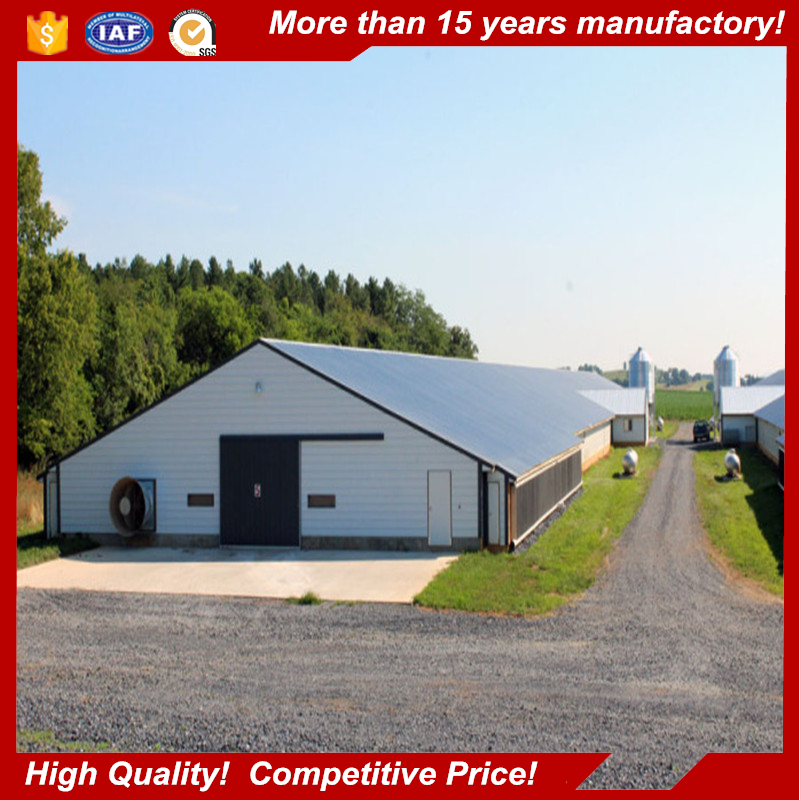 cheap poultry farming equipment prefabricated industrial chicken farm metal building