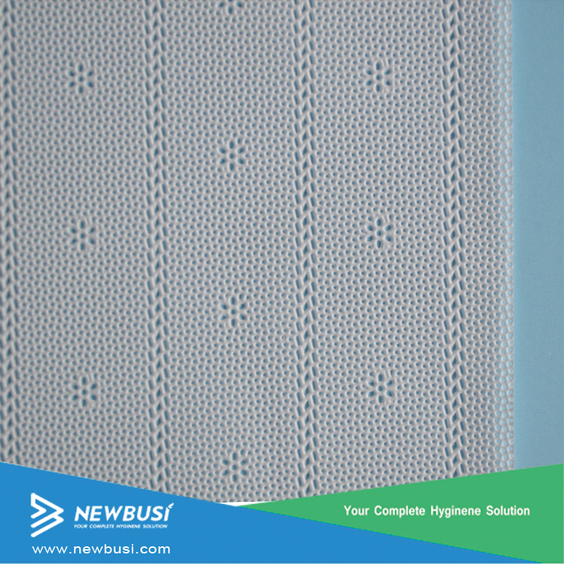 High Quality 18-40GSM Perforated PE Top Film For Sanitary Napkin