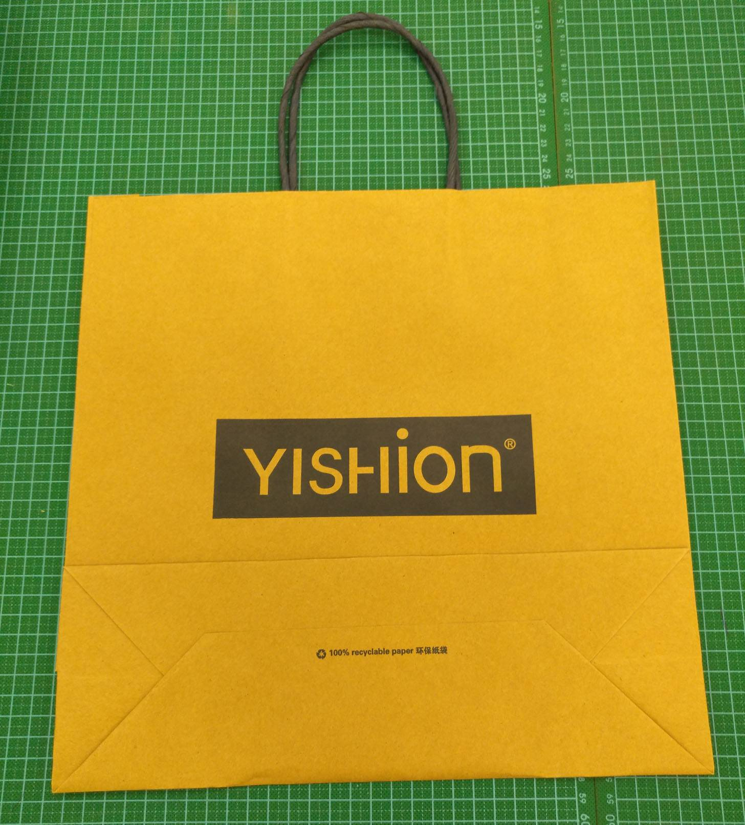 cheap price kraft paper bags with twisted paper handle
