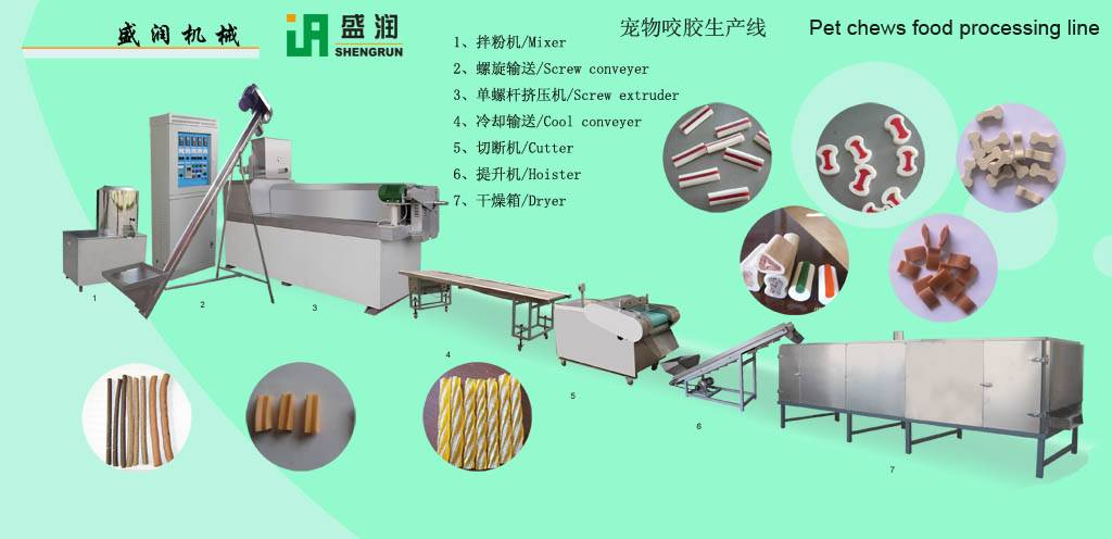 pet chews food processing line