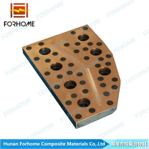 Bimetallic Steel-based Copper Alloy Inlaid Solid Lubricated Sliding Liner