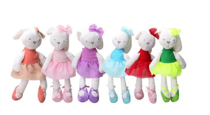 Lovely Rabbit Plush Toys Soft Baby Sleeping Comfort Doll Children Birthday Festival Gifts