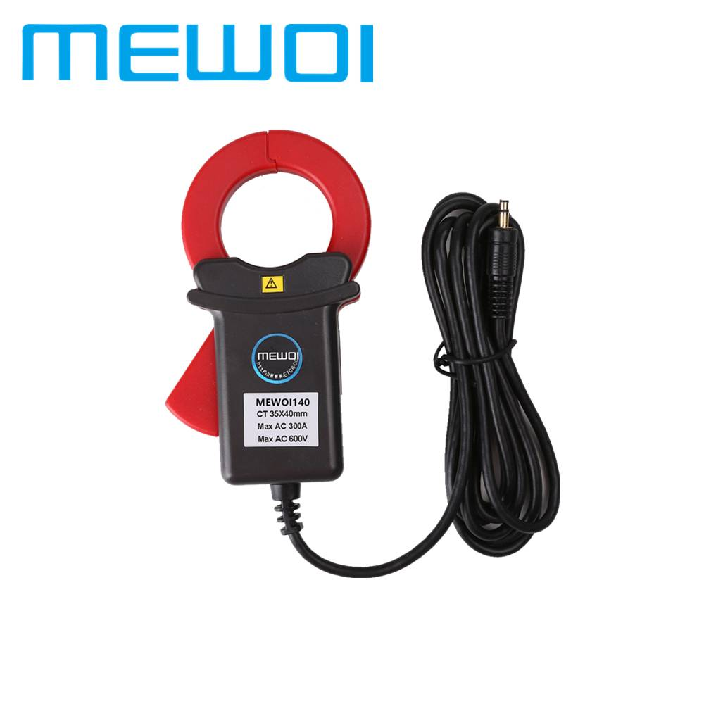 MEWOI140-35*40mm,AC 0.00mA~300A,Turn Ratio 1:2400 Clamp on Leakage current sensor meter