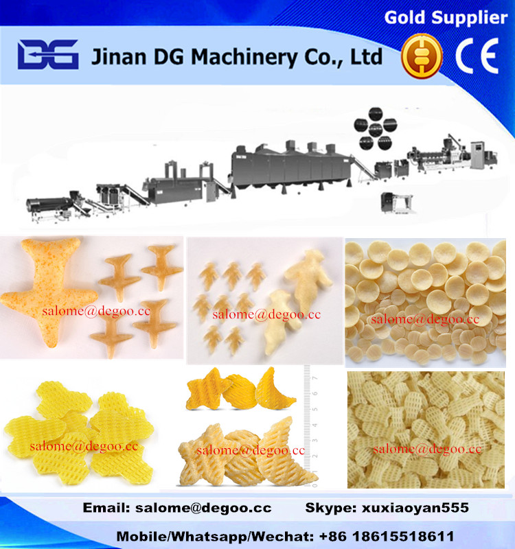 twin screw extruder for making 2d 3d snack pellets extrusion machinery