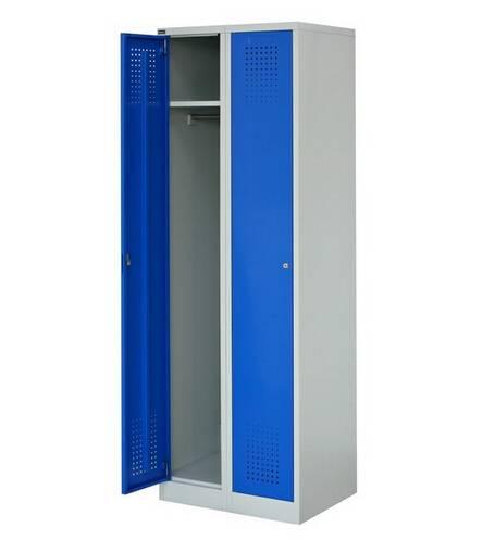 Space saving metal furniture KD assembled wardrobe closet