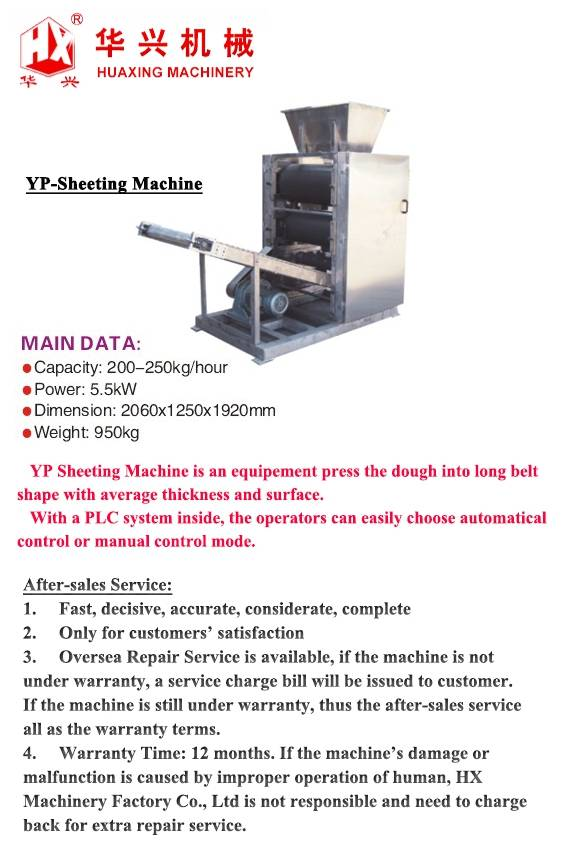 YP-Sheeting Machine