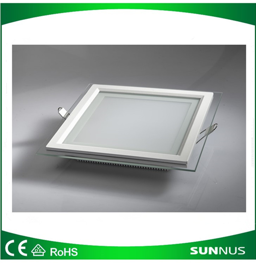 18W Square-LED-Recessed-Ceiling-Panel-Down-Light-Clear-Glass-Fitting