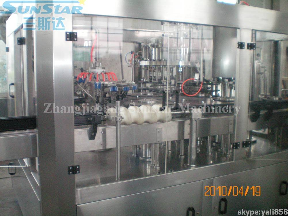 Glass Bottle Washing Filling Capping 3in1 Unit For CSD