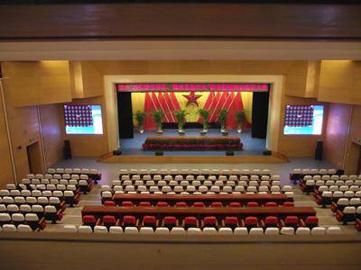 Retardant stage curtain