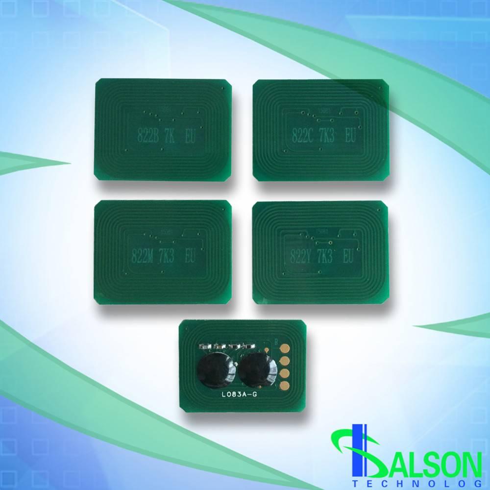 Toner chip for Xerox OKI C822 printer chips