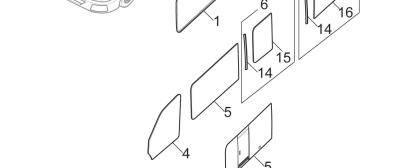 LDV MAXUS parts, Genuine Front Door Glass C00023611