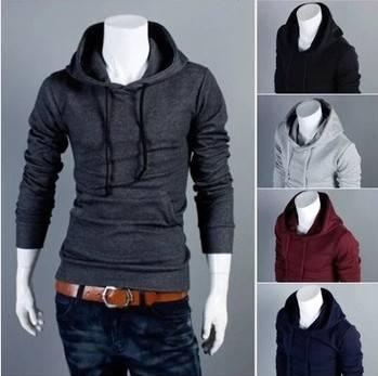 New Autumn Slim Fit Men Hoodies Mens Sports Casual Sweatshirt Jackets Outerwear