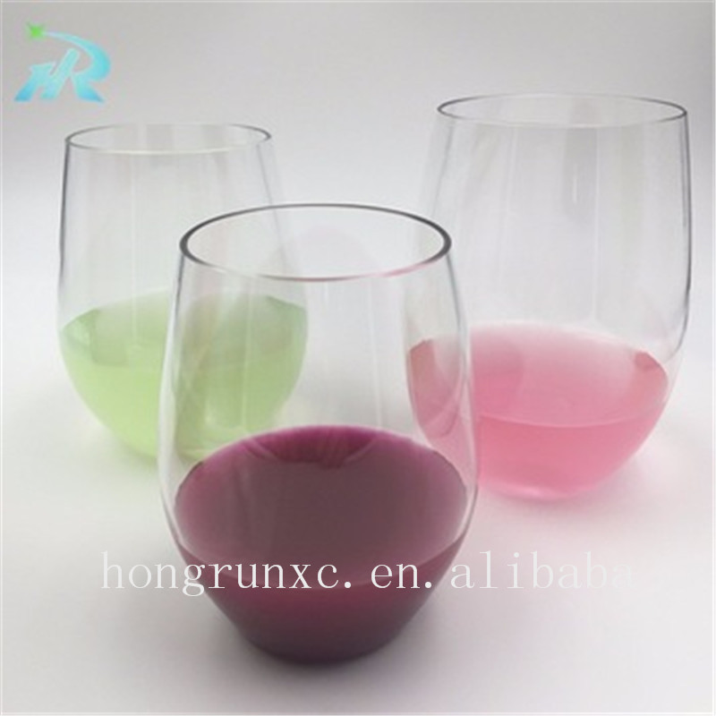 2017 Food grade Colored PS Plastic Reusable Cup