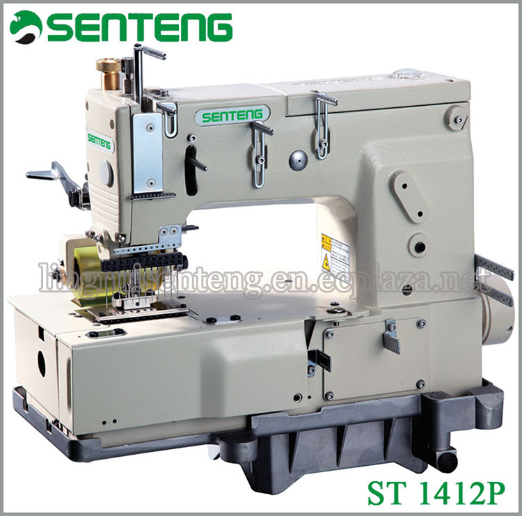 ST 1412P 12-NEEDLE FLAT-BED DOUBLE CHAIN STITCH DOMESTIC SEWING MACHINE PRICE