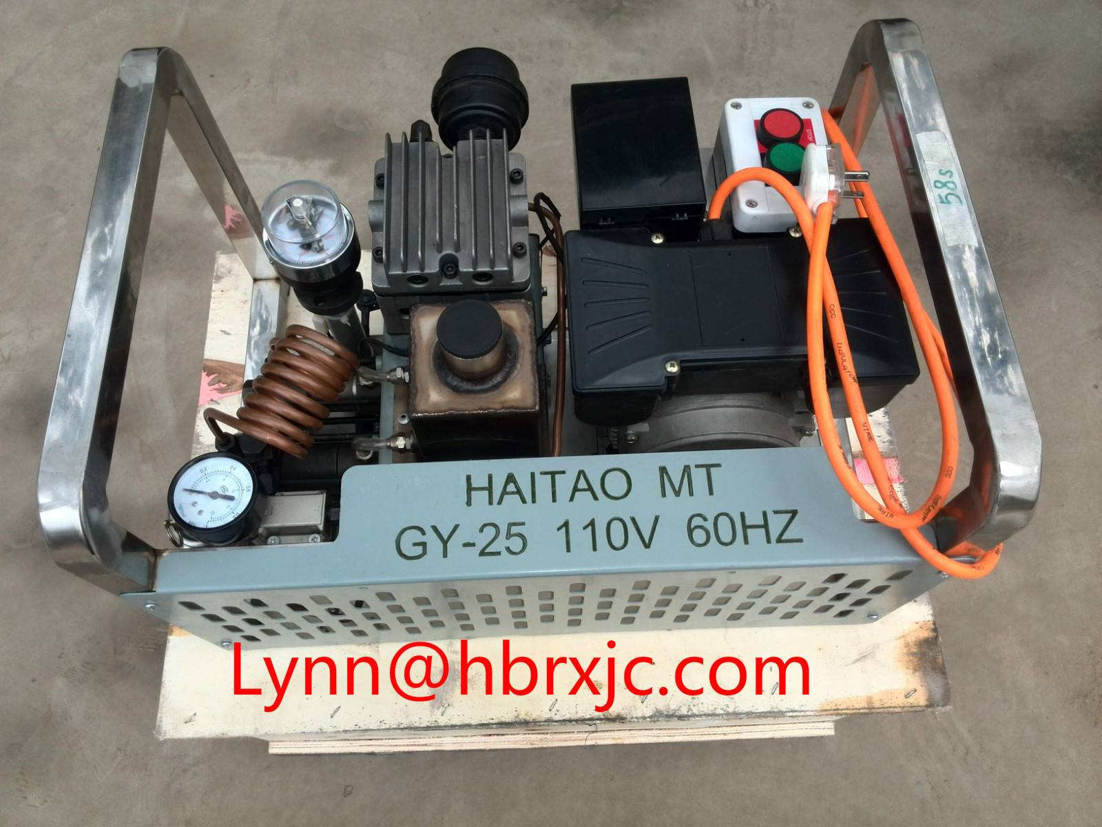 GYZ25-110V 300bar High Pressure Air Compressor