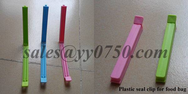 Plastic seal clip for food bag