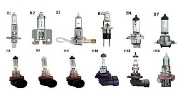 Automotive Halogen Bulbs H1/H2/H3/H3c/H4/H7/H8/H9/H10/H11/H12/H13