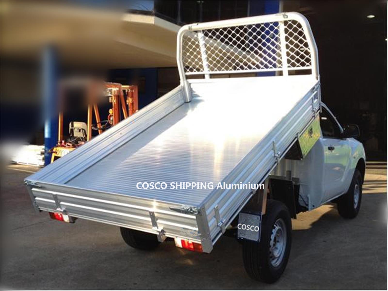 aluminum rear drop side tipper body