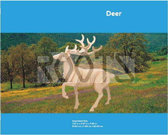 Deer-3D wooden puzzles, wooden construction kit,3d wooden models, 3d puzzle