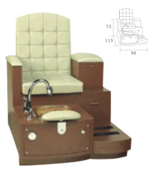 Wooden Base Salon Spa Pedicure Chair Foot Massage XY-8952