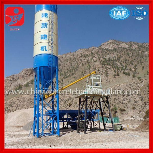 Professional design low price HZS35 concrete batching plant