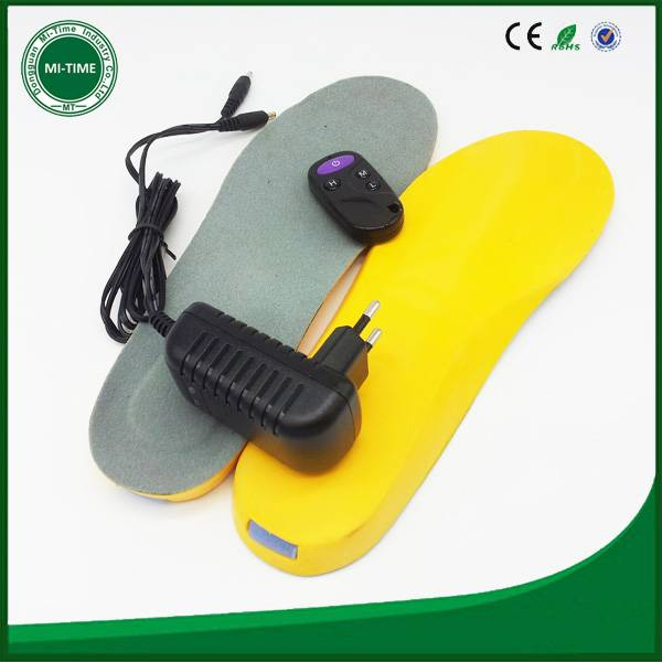electric remote control battery heating insole with heating