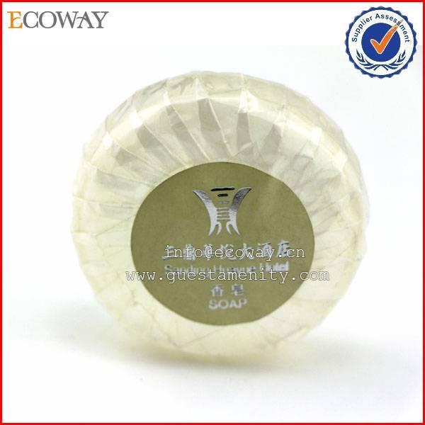 2014 china hotel custom whitening pleat wrap soaps