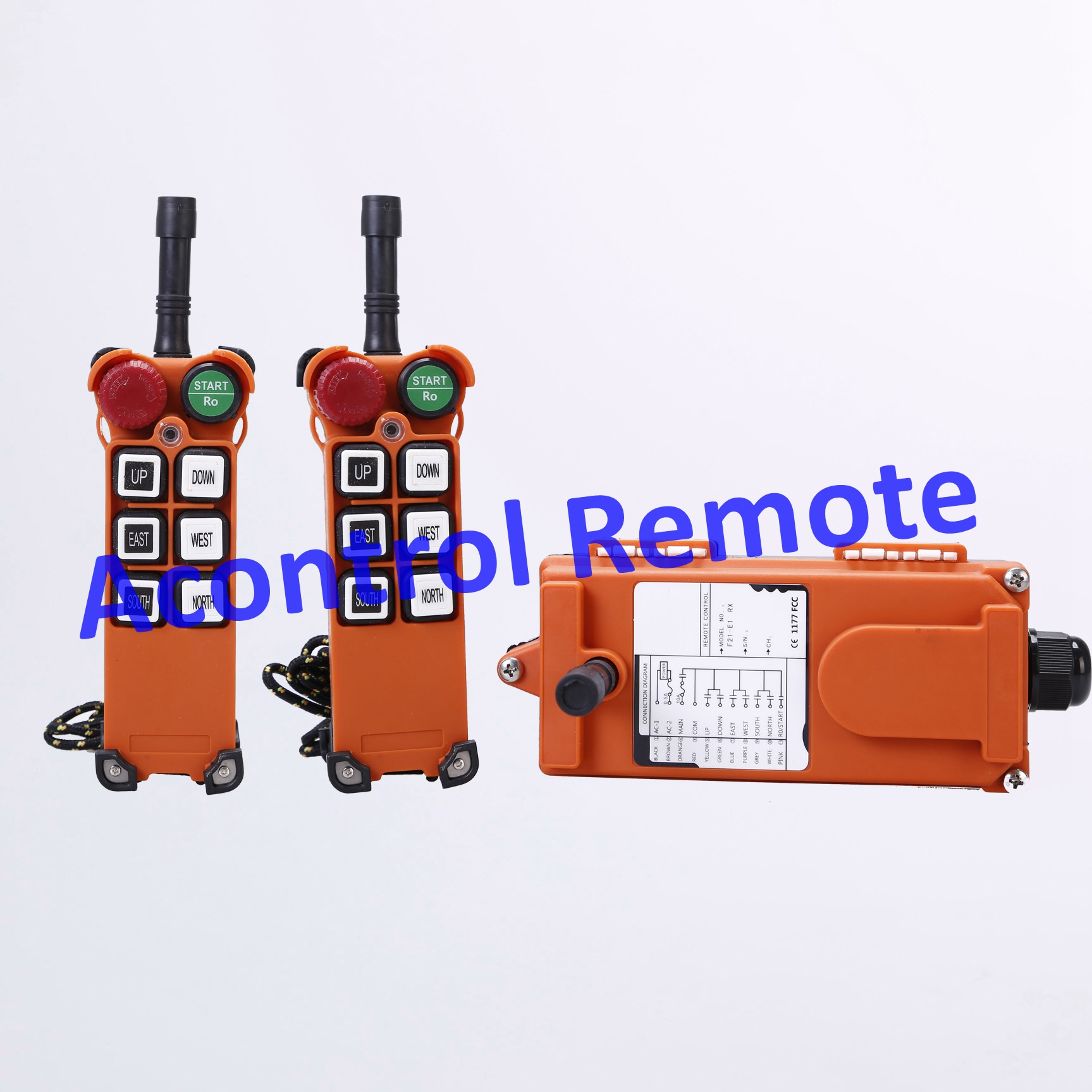Popular Two transmitter with 1 receiver 6 button industrial radio remote control