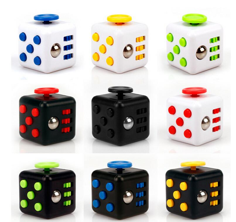 2017 Hand Spinner Fidget Cube with Button Anti Irritability Toy Stress Relief for Adults and Childre