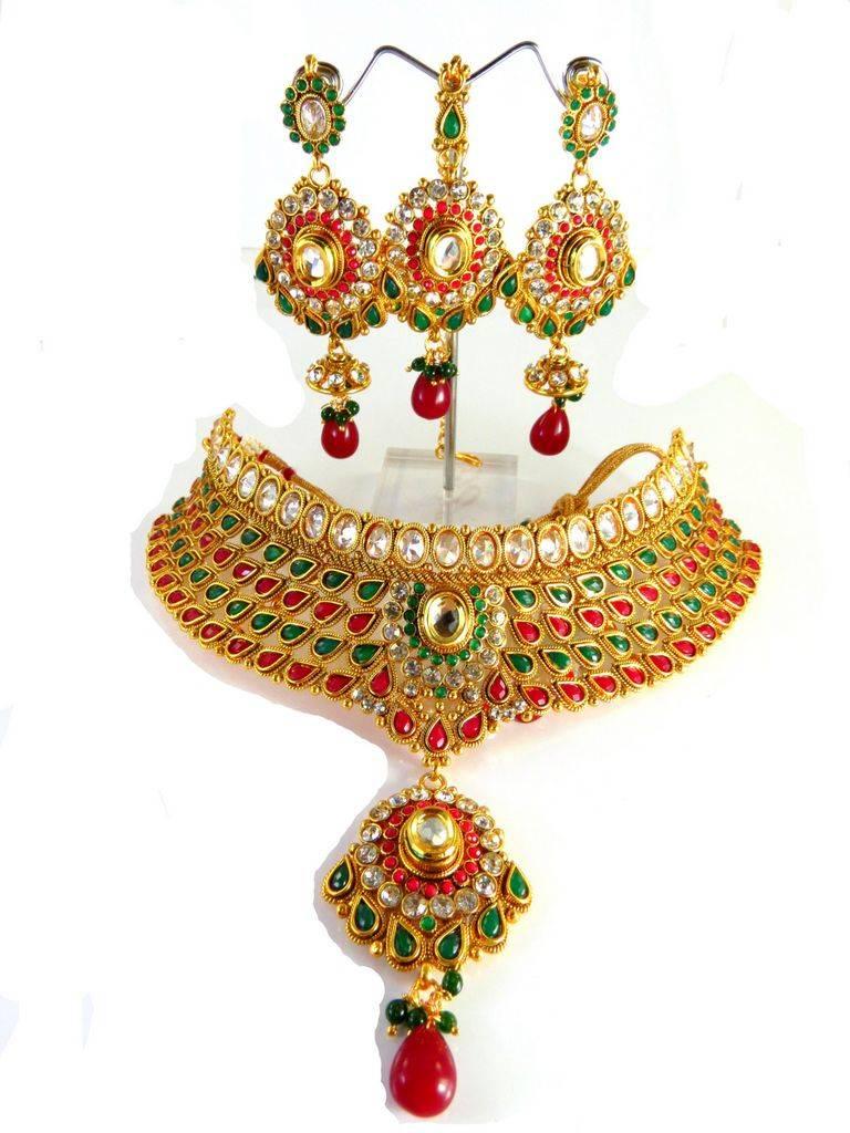 Semi bridal necklaces set
