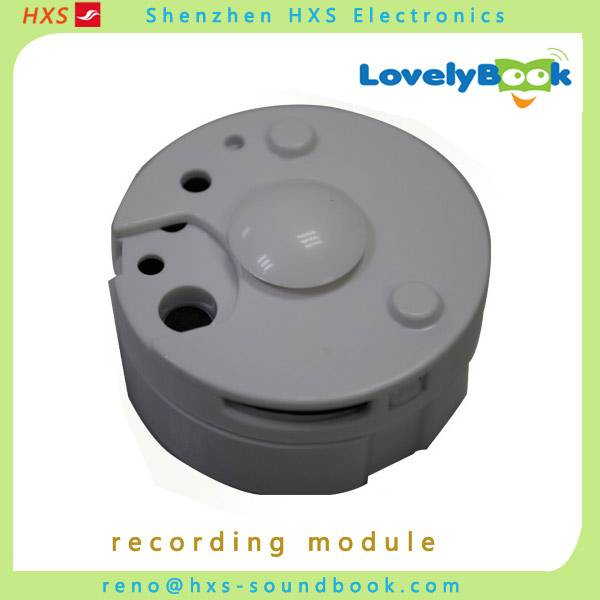 Round voice recorder/customized recordable module for toy