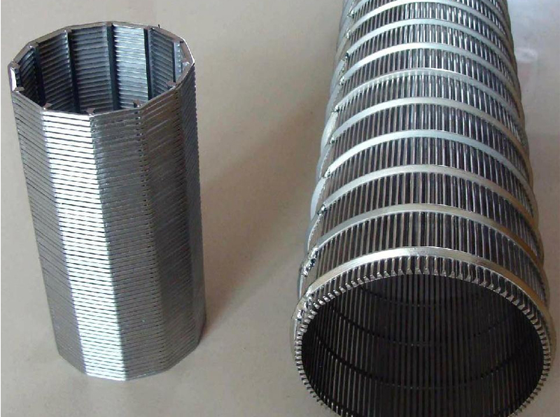 High Precision Wedge Wire Screen Filter PipeWedge Wire Pipe /Tube/CylinderWedge Wire Screen