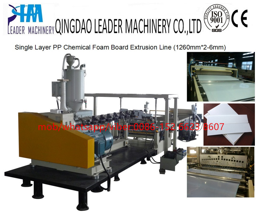 PP Chemical foam board extrusion line