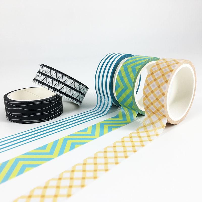 Stripe Geometrical Shape Decorative Washi tape in stock