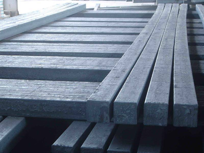 Rolled steel square bars - U75V