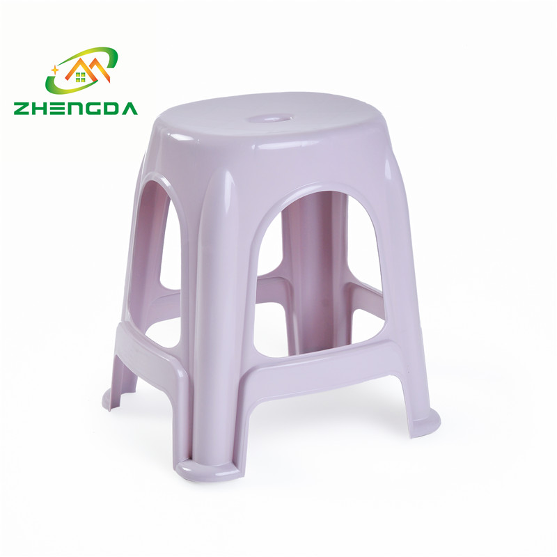 high round plastic stool stackable stability stool for office