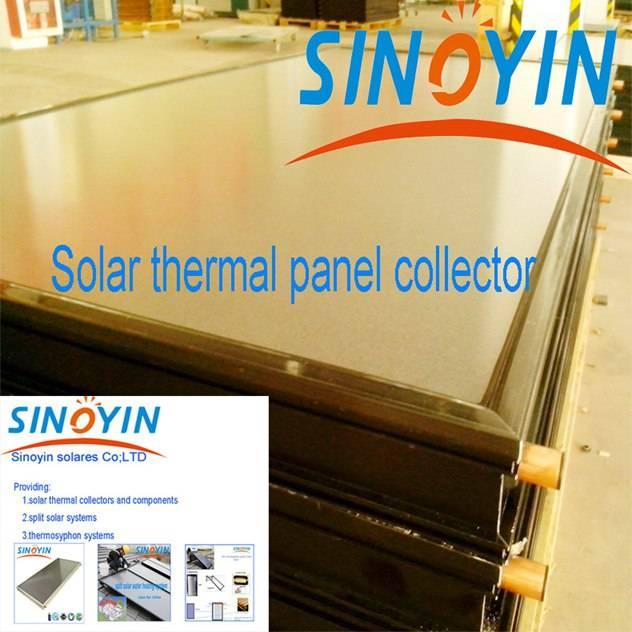 flat plate solar collector of 2.15sqm solar key mark