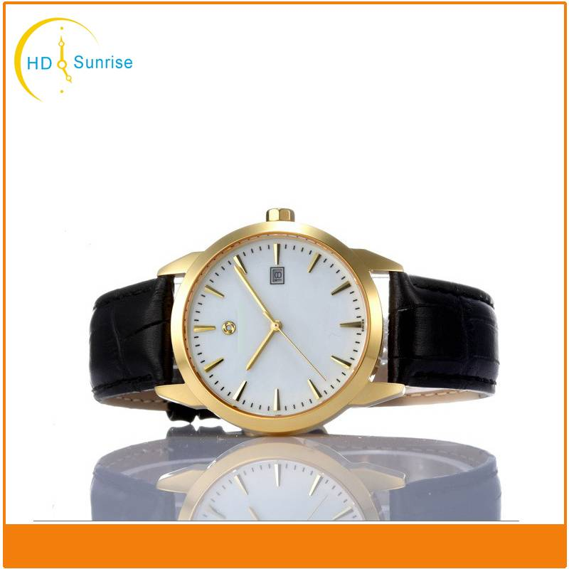 New 3ATM Waterproof Mineral Glass Lense stainless steel back TOP Quality Custom men watch big face