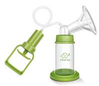Hand pulling breast pump