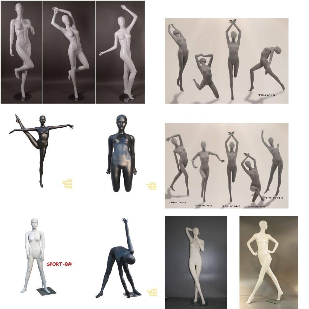 GYM and Youga mannequins