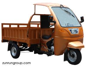 ZR200ZH-F3 200cc water-cooled steel front cabin cargo motor tricycle