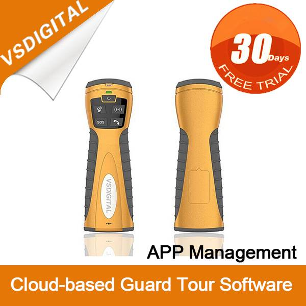 Cloud-based guard tour system with GPS GPRS Panic Button