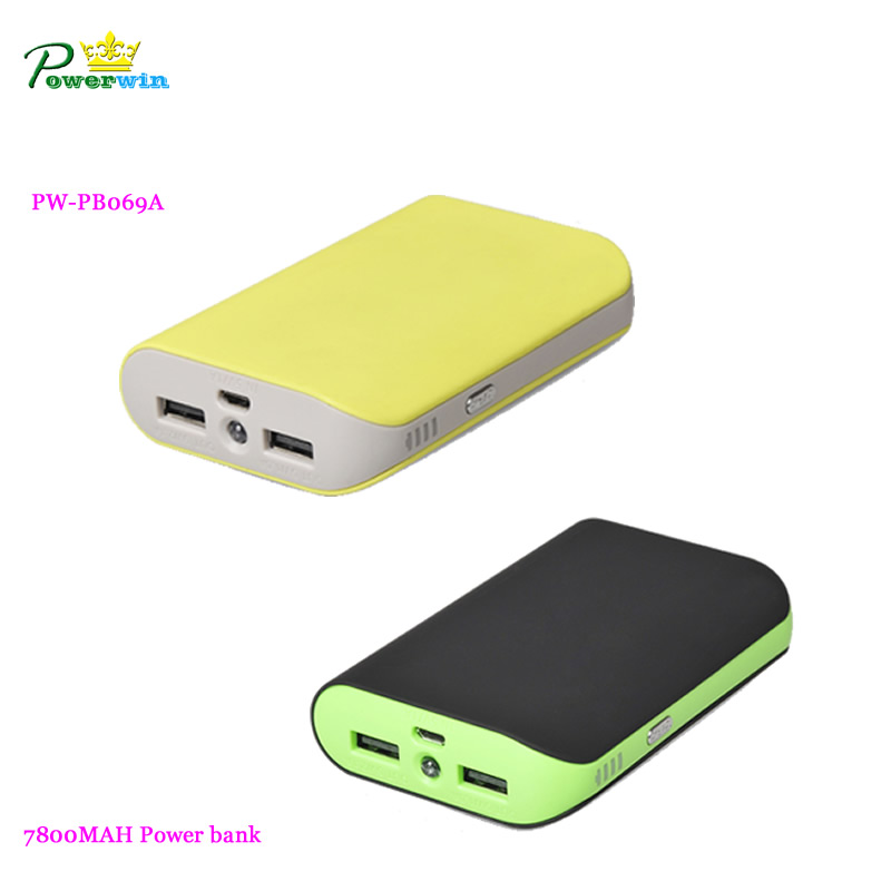 Hot power bank with full capacity 7800mah for mobilephone PW-PB069