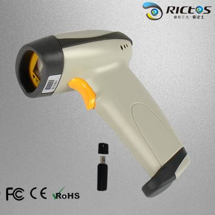 Handheld 1D wireless laser barcode scanner withe high speed